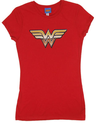 Wonder Woman Logo - DC Comics Sheer Women's T-shrit