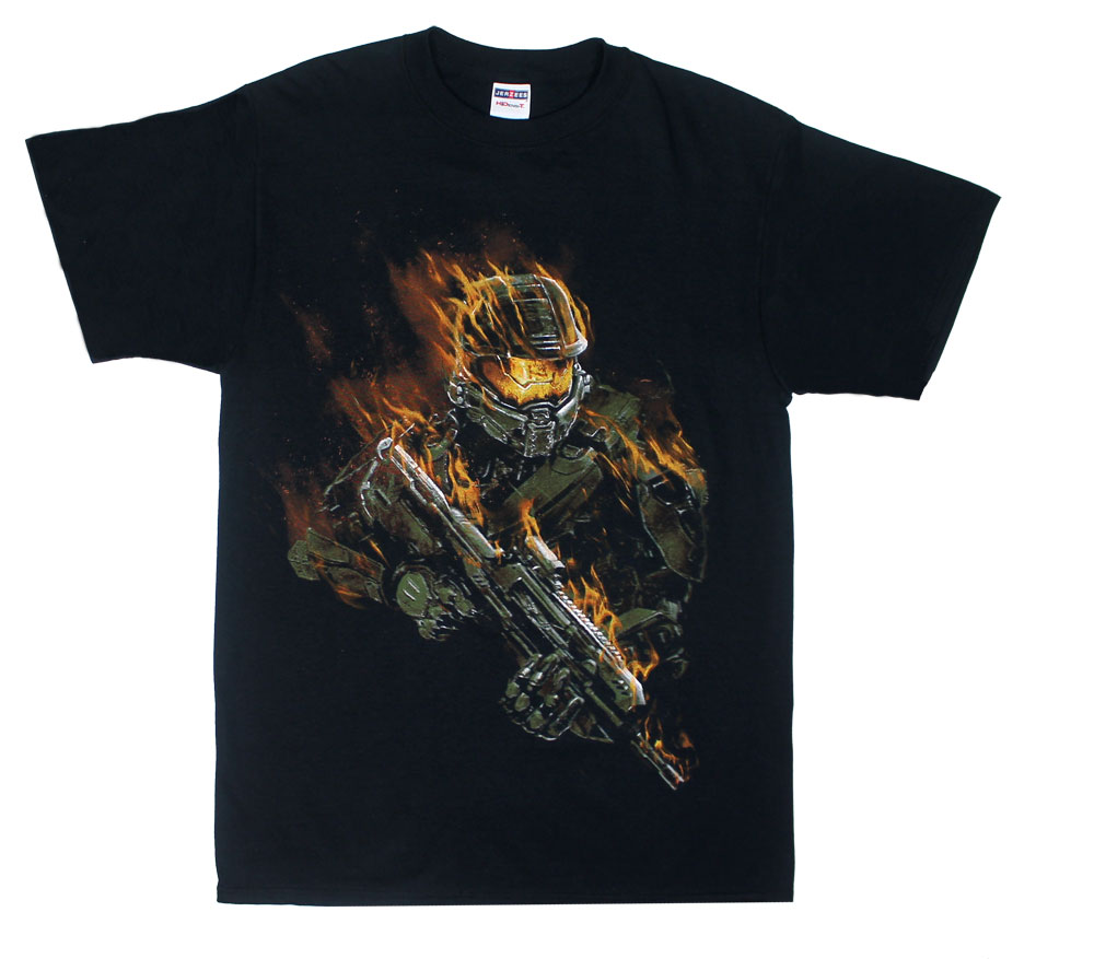 Chief On Fire - Halo T-shirt