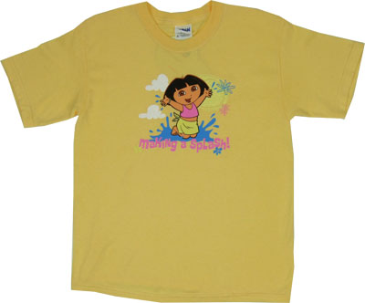 Making A Splash - Dora The Explorer Youth T-shirt