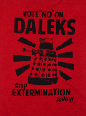 Vote No On Daleks - Dr. Who Juniors T-shirt