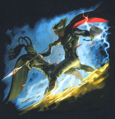 Thor Vs. Loki - Marvel Comics T-shirt