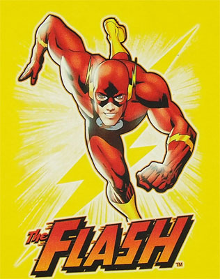 Flash On Yellow - DC Comics T-shirt