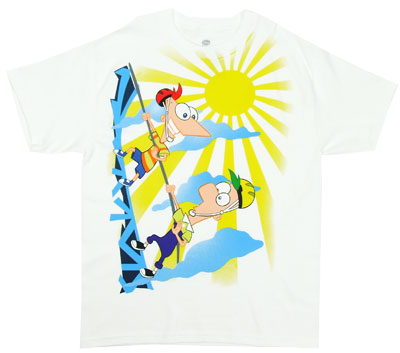 Mountain Climbing - Phineas And Ferb Boys T-shirt