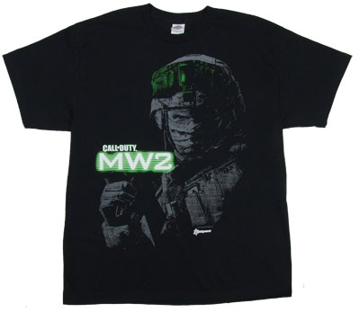 Soldier Closeup - Call Of Duty Modern Warfare 2 T-shirt   