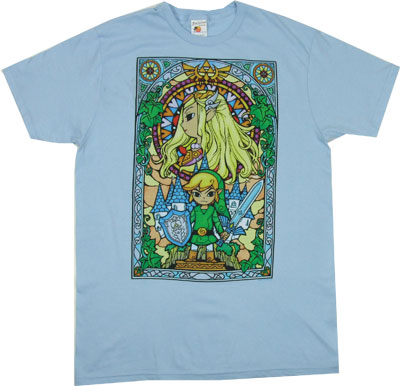 Stained Glass Link - Legend Of Zelda - Nintendo Sheer T-shirt