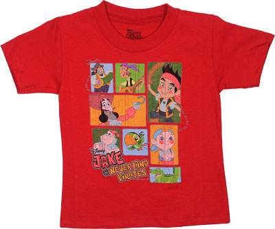 Neverland Stack - Jake And The Neverland Pirates Toddler T-shirt