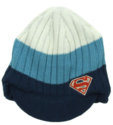 Superman Logo - DC Comics Billed Knit Hat