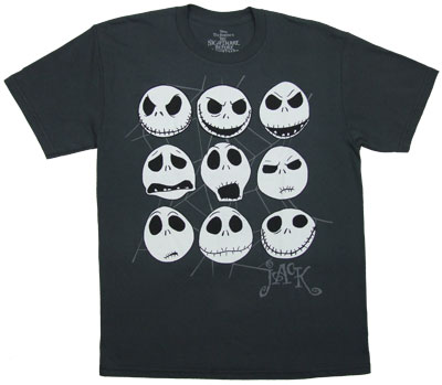 Jack Faces - Nightmare Before Christmas Sheer T-shirt