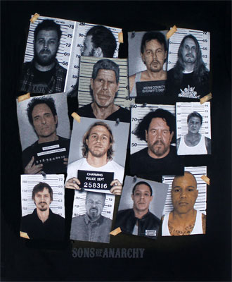 Mugshots - Sons Of Anarchy T-shirt