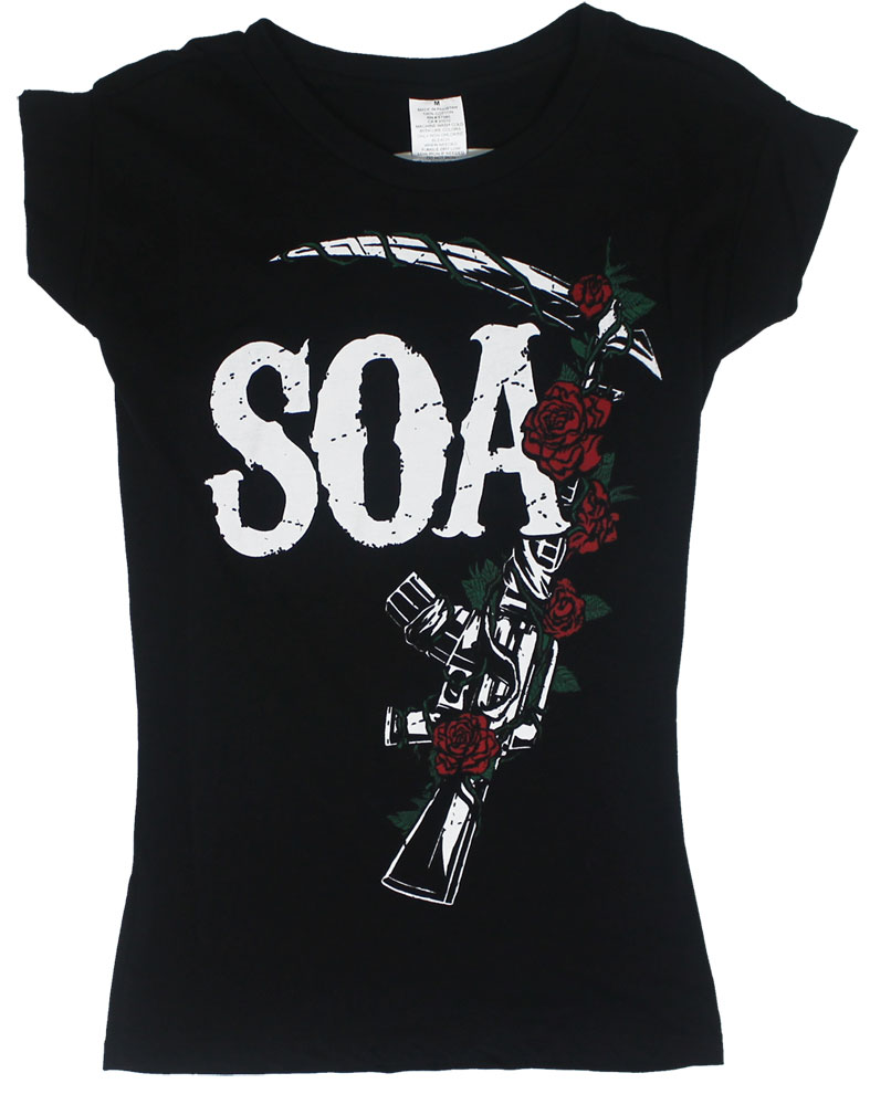 M16 Roses - Sons Of Anarchy Juniors T-shirt