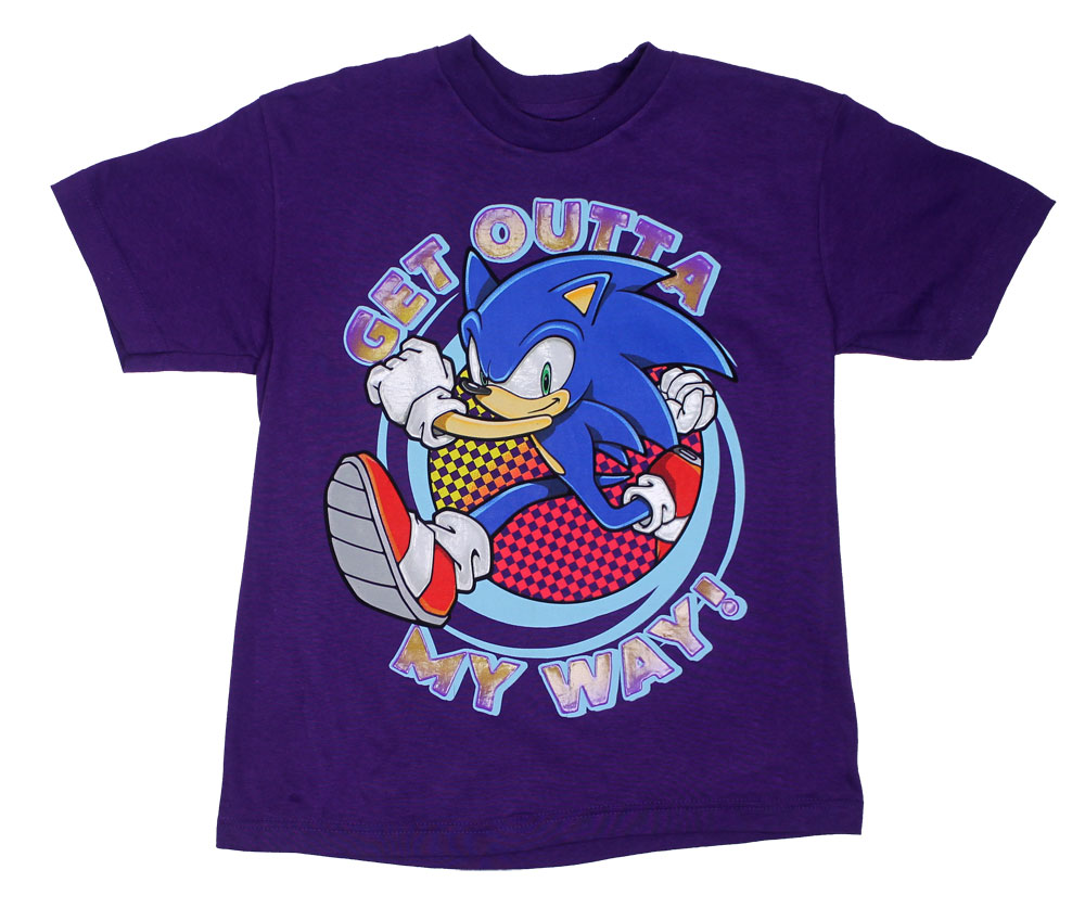 Get Outta My Way - Sonic The Hedgehog Boys T-shirt