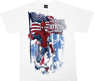 Courage Makes A Strong Mind - Marvel Comics T-shirt