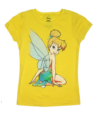 Tinkerbell Sitting - Disney Girls T-shirt