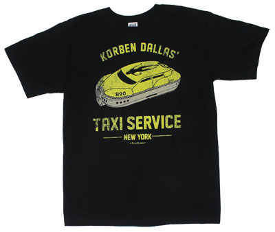 Korben Dallas' Taxi Service - Fifth Element T-shirt