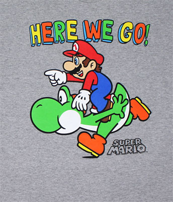 Here We Go! - Nintendo T-shirt