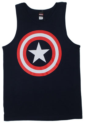Captain America Logo - Marvel Comics Tank Top