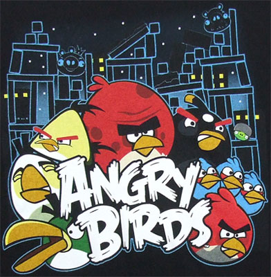 Conflict - Angry Birds T-shirt