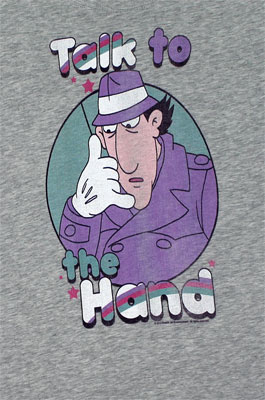 Talk To The Hand - Inspector Gadget Sheer Women's T-shirt