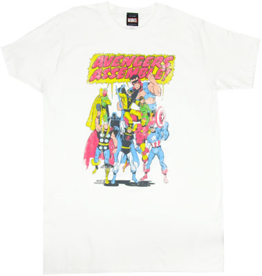 Avengers Assemble! - Marvel Comics Sheer T-shirt