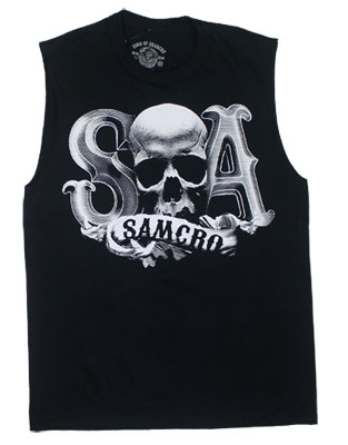 Beveled Skull Logo - Sons Of Anarchy Muscle Tee