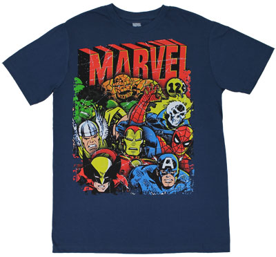 Squad Up - Marvel Comics Sheer T-shirt