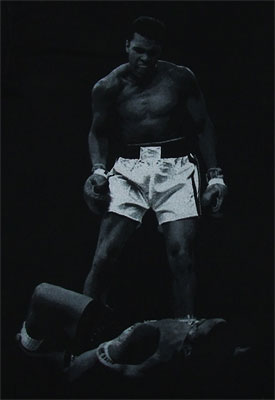 Ali Over Liston - Muhammed Ali Sheer T-shirt