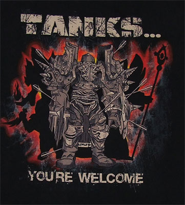 Tanks You're Welcome - World Of Warcraft T-shirt