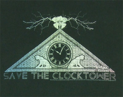 Save The Clocktower - Back To The Future Sheer T-shirt