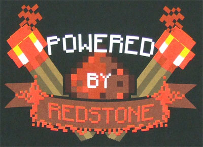Powered By Redstone - Minecraft T-shirt