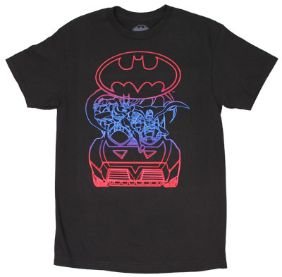 Neon Dynamic Duo - DC Comics T-shirt