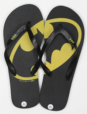 Batman Logo - DC Comics Flip-Flops