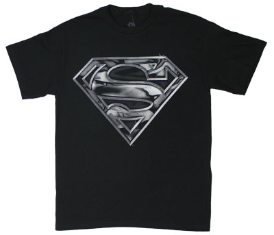 Basic Chrome Logo - DC Comics T-shirt