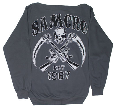 Reaper Crossed Guns - Sons Of Anarchy Hooded Sweatshirt