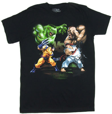 Hulk And Wolverine Vs. Zangief And Ryu - Marvel Vs. Capcom Sheer T-shirt