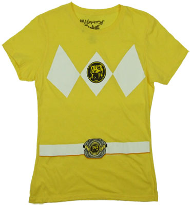 Yellow Ranger Costume - Mighty Morphin Power Rangers Sheer Women's T-shirt