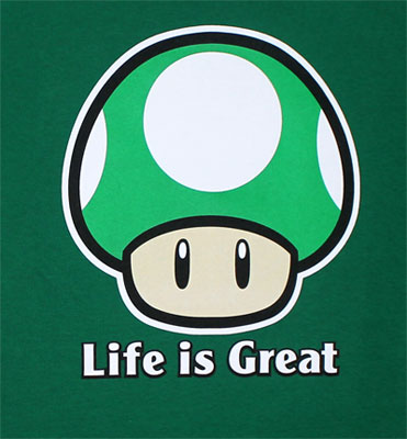 Life Is Great - Nintendo T-shirt