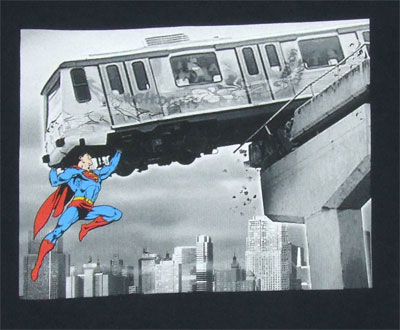 Train Photo - Superman - DC Comics T-shirt