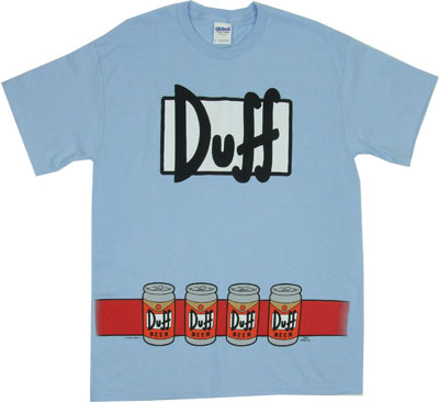 Duffman Costume - Simpsons T-shirt