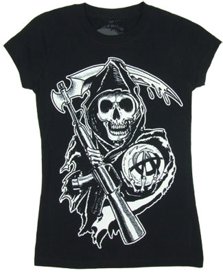 Big Reaper - Sons Of Anrachy Sheer Women's T-shirt