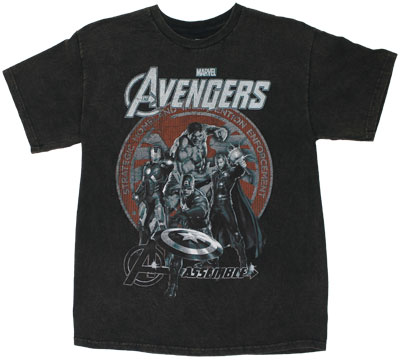 Avengers Mineral Wash - Avengers T-shirt