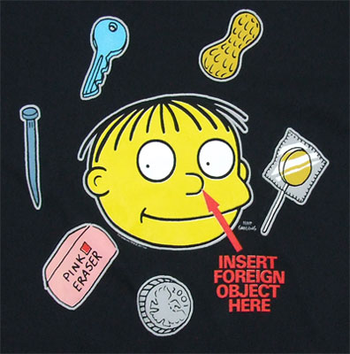 Insert Foreign Object Here - Ralph Wiggum - Simpsons T-shirt