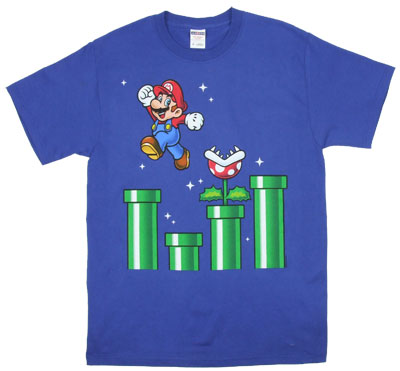Mario With Pipes - Nintendo T-shirt