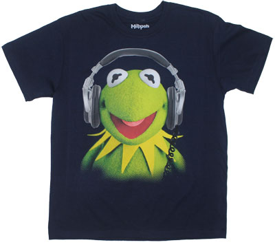 Kermit With Headphones - Muppets T-shirt