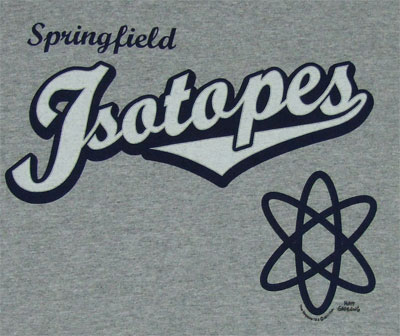 Isotopes Logo - Simpsons T-shirt