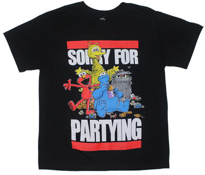 Sorry-for-Partying-Sesame-Street-T-shirt