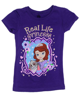 Real Life Princess - Sofia The First Girls T-shirt