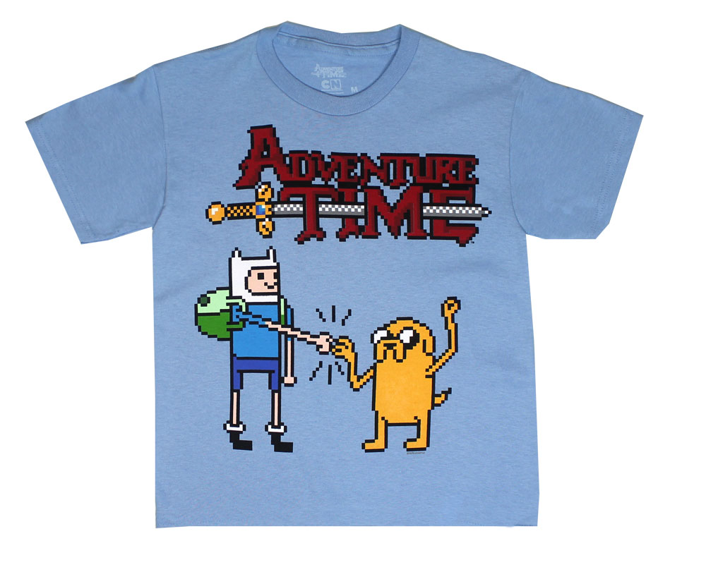 Pixel Finn And Jake - Adventure Time Youth T-shirt