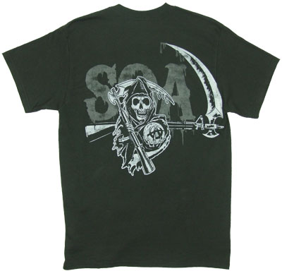Reaper Crew On Black - Sons Of Anarchy T-shirt