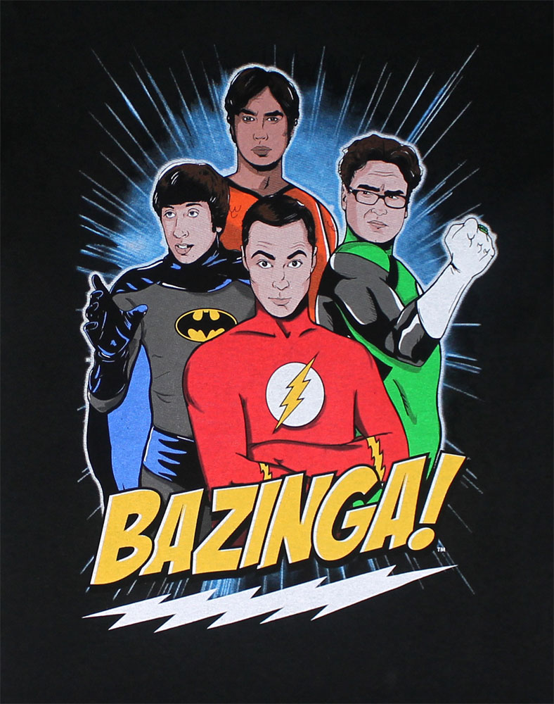 Superhero Group - Big Bang Theory T-shirt