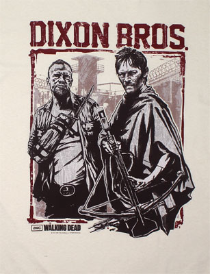 Dixon Bros Woodblock Stamp - Walking Dead T-shirt